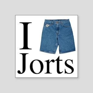 "I heart jorts Square Sticker 3"" x 3"""