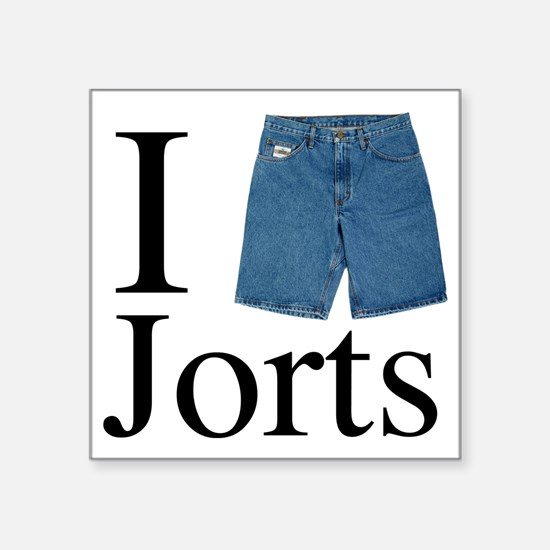 "I heart jorts Square Sticker 3"" x 3"""