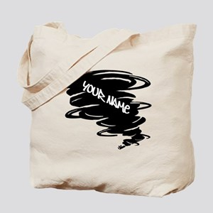 Black Tornado Tote Bag