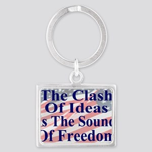 Clash of Ideas 35 dk bl  Flags  Landscape Keychain