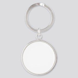 Ride White Round Keychain