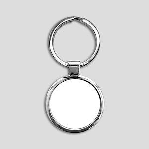 Ride White Round Keychain
