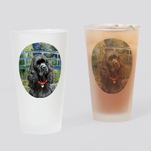 J-ORN-Bridge-Cocker-black Drinking Glass