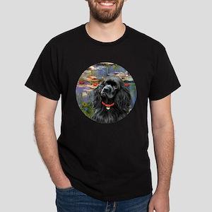 J-ORN-Lilies2-Cocker-black Dark T-Shirt