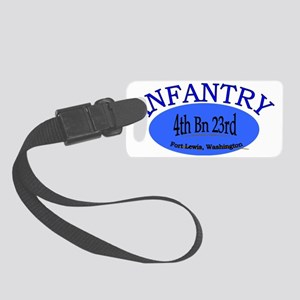 4th Bn 23rd Infantry Cap2 Small Luggage Tag