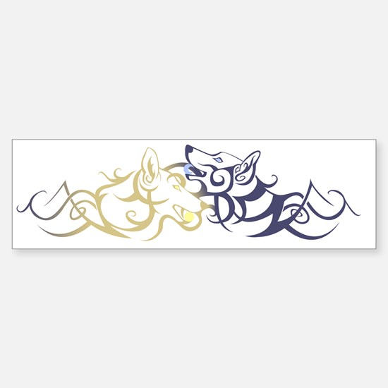 sundog_moondog Sticker (Bumper)