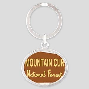 mountaincurnationalforest Oval Keychain