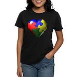 Puzzle Heart Women's Dark T-Shirt