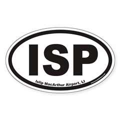 Islip MacArthur Airport ISP Euro Oval Decal