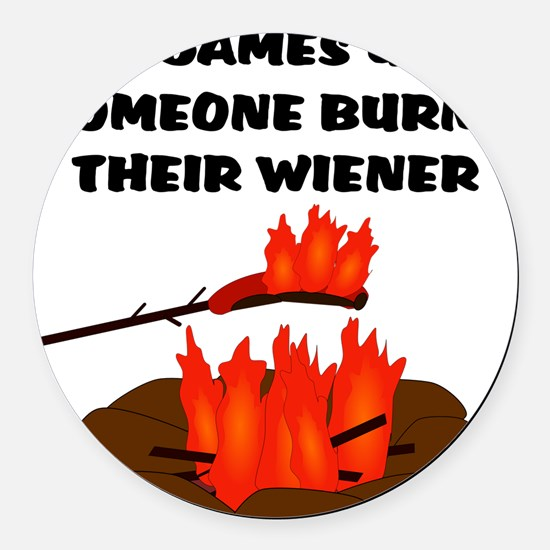 Wiener Burn Round Car Magnet