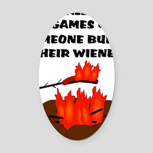 Wiener Burn Oval Car Magnet