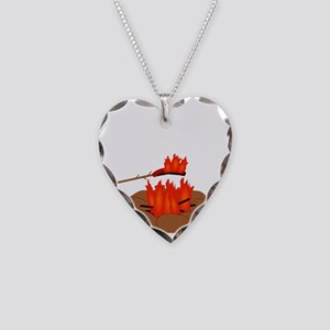 Wiener Burn Dark Necklace Heart Charm