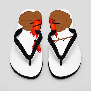 Wiener Burn Dark Flip Flops