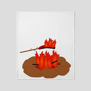 Wiener Burn Dark Throw Blanket