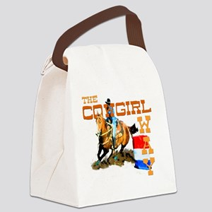 cowgirl way 2 Canvas Lunch Bag