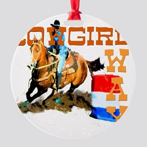 cowgirl way 2 Round Ornament