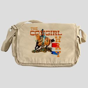 cowgirl way 2 Messenger Bag