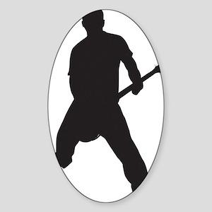 Lone frank Black Sticker (Oval)