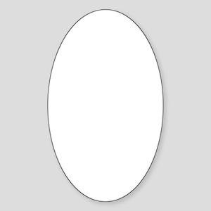 Lone frank white Sticker (Oval)