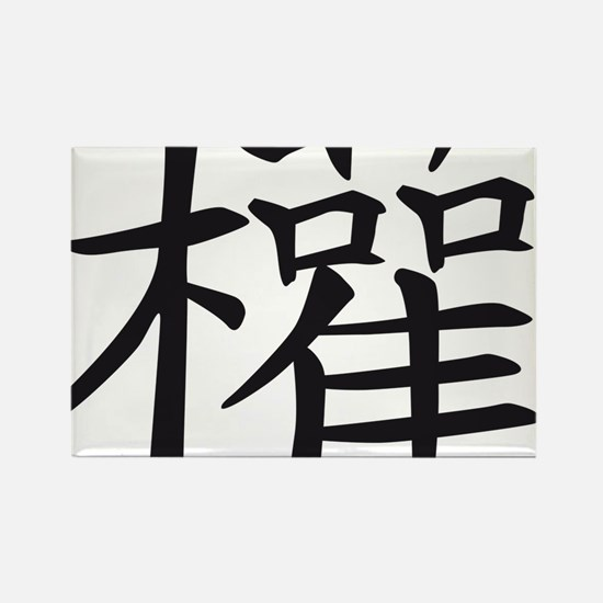 chinese sign power Rectangle Magnet
