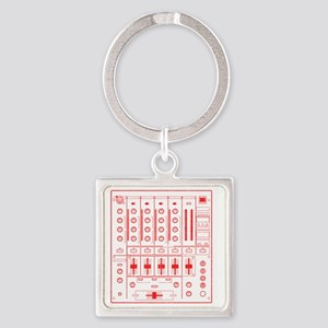 mixer-lrg-red-worn Square Keychain