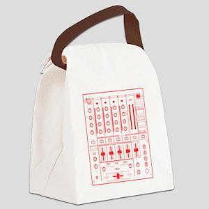mixer-lrg-red-worn Canvas Lunch Bag