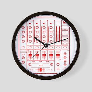 mixer-lrg-red-worn Wall Clock