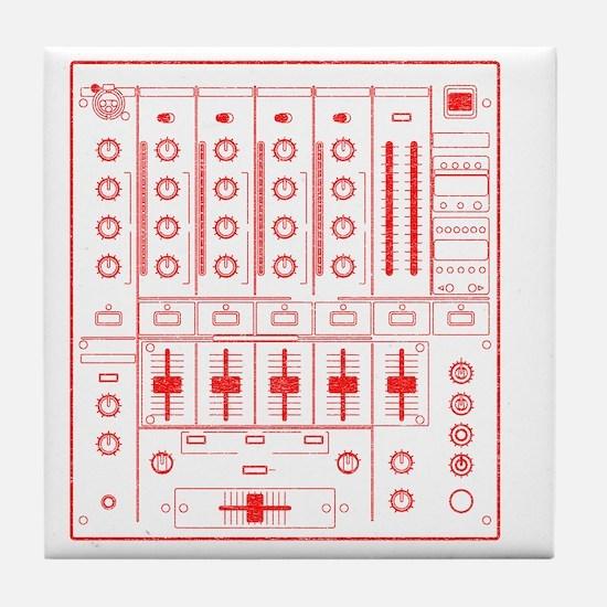 mixer-lrg-red-worn Tile Coaster