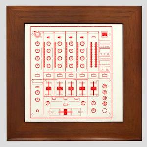 mixer-lrg-red-worn Framed Tile