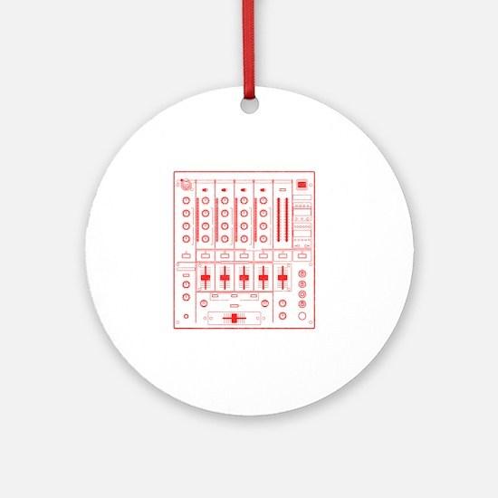 mixer-lrg-red-worn Round Ornament