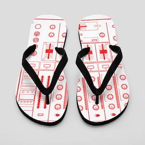 mixer-lrg-red-worn Flip Flops