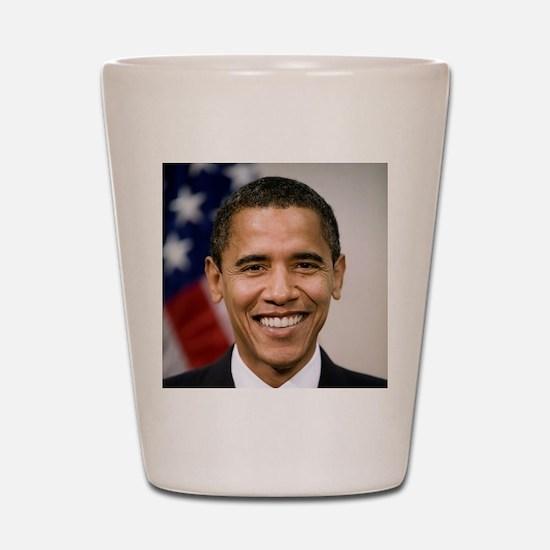 smiling_portrait_of_Barack_Obama-close- Shot Glass