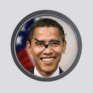 smiling_portrait_of_Barack_Obama-close- Wall Clock