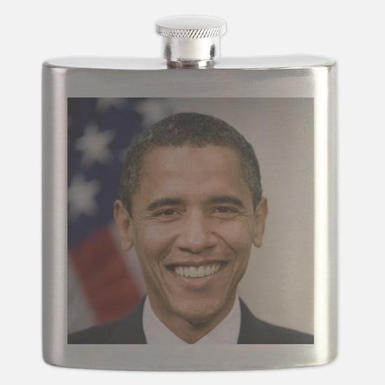 smiling_portrait_of_Barack_Obama-close-up Flask