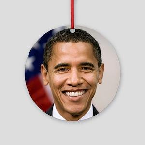smiling_portrait_of_Barack_Obama-cl Round Ornament
