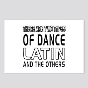 Latin Dance Designs Postcards (Package of 8)