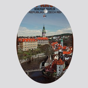 Cesky Krumlov - Vltava River Oval Ornament