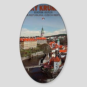 Cesky Krumlov - Vltava River Sticker (Oval)