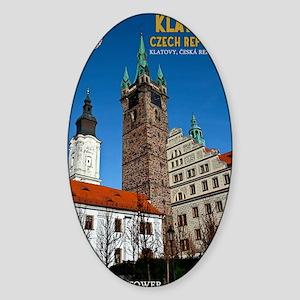 Klatovy - The Black Tower Sticker (Oval)