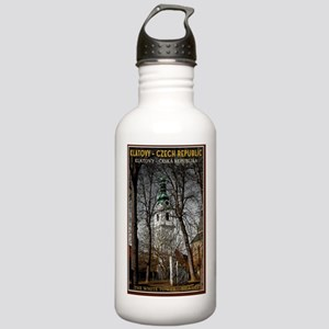 Klatovy - The White To Stainless Water Bottle 1.0L