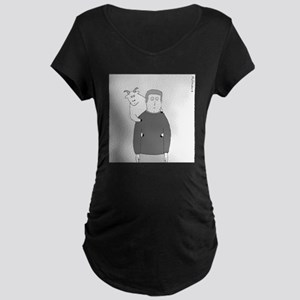 Back Goat - no text Maternity Dark T-Shirt