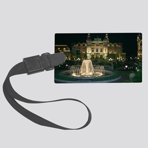 Monte Carlo Casino at Night Large Luggage Tag
