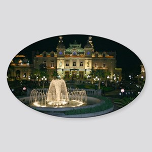 Monte Carlo Casino at Night Sticker (Oval)