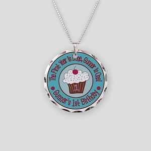 Gunnars-1st-Birthday_Teal-an Necklace Circle Charm