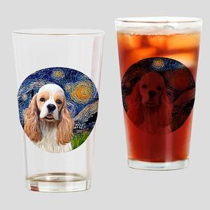 J-ORN-Starry-Cocker-RW2 Drinking Glass