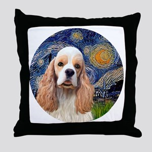 J-ORN-Starry-Cocker-RW2 Throw Pillow