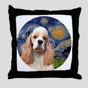 J-ORN-Starry-Cocker-RW2 Throw Pillow