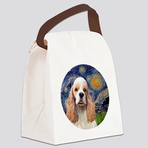J-ORN-Starry-Cocker-RW2 Canvas Lunch Bag