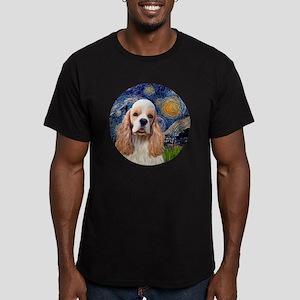 J-ORN-Starry-Cocker-RW Men's Fitted T-Shirt (dark)