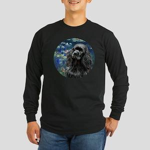J-ORN-Lilies5-Cocker-blac Long Sleeve Dark T-Shirt